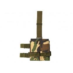DOUBLE POCHE DE CUISSE POUR CHARGEUR M4/AK WOODLAND