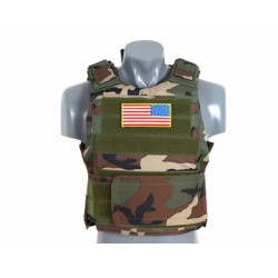 GILET TACTICAL BODY ARMOR WOODLAND