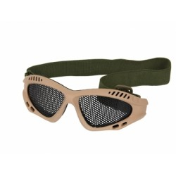 LUNETTES A GRILLE TAN/OD