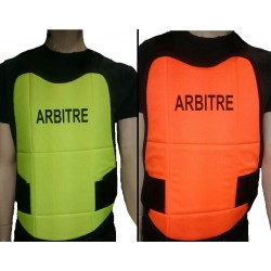 PLASTRON MILOPS ARBITRE REVERSIBLE JAUNE/ORANGE