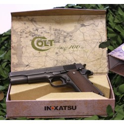PISTOLET INOKATSU COLT M1911 CO2 FULL METAL CULASSE MOBILE