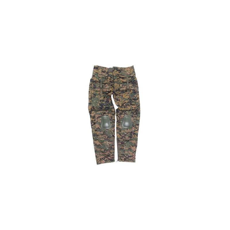 Xl Pantalon Miltec Warrior Digital Woodland N08nvmw