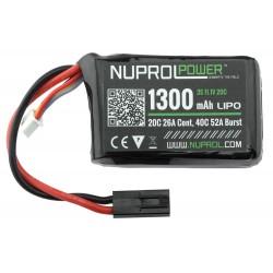 BATTERIE NUPROL MICRO LIPO POWER 11.1 V  / 1300 MAH 20C PEQ