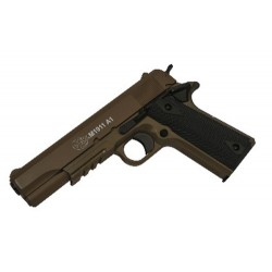 PISTOLET COLT 1911 SPRING CULASSE METAL DARK EARTH