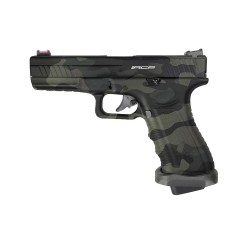 PISTOLET APS S17 V2 ACP CO2 BLOWBACK BLACK MULTICAM