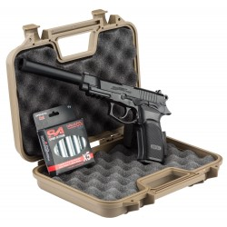 PACK PISTOLET ASG BERSA THUNDER 9 CO2+SILENCIEUX+MALETTE+SPA