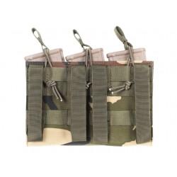 POCHE CHARGEUR M4/M16 WOODLAND 3 EMPLACEMENTS