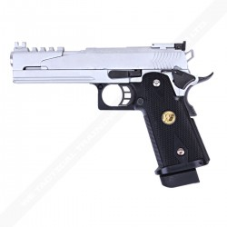 PISTOLET WE HI CAPA 5.1 SILVER DRAGON B-VERSION GBB