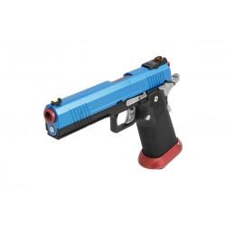 PISTOLET GBB AW CUSTOM HX1005 SPLIT BLUE
