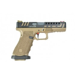 PISTOLET APS SCORPION CO2 BLOWBACK BLACK TAN