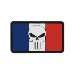 PATCH FLAG SKULL FRANCE