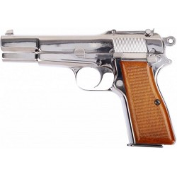 PISTOLET WE BR-NING HI-POWER CHROME GAZ
