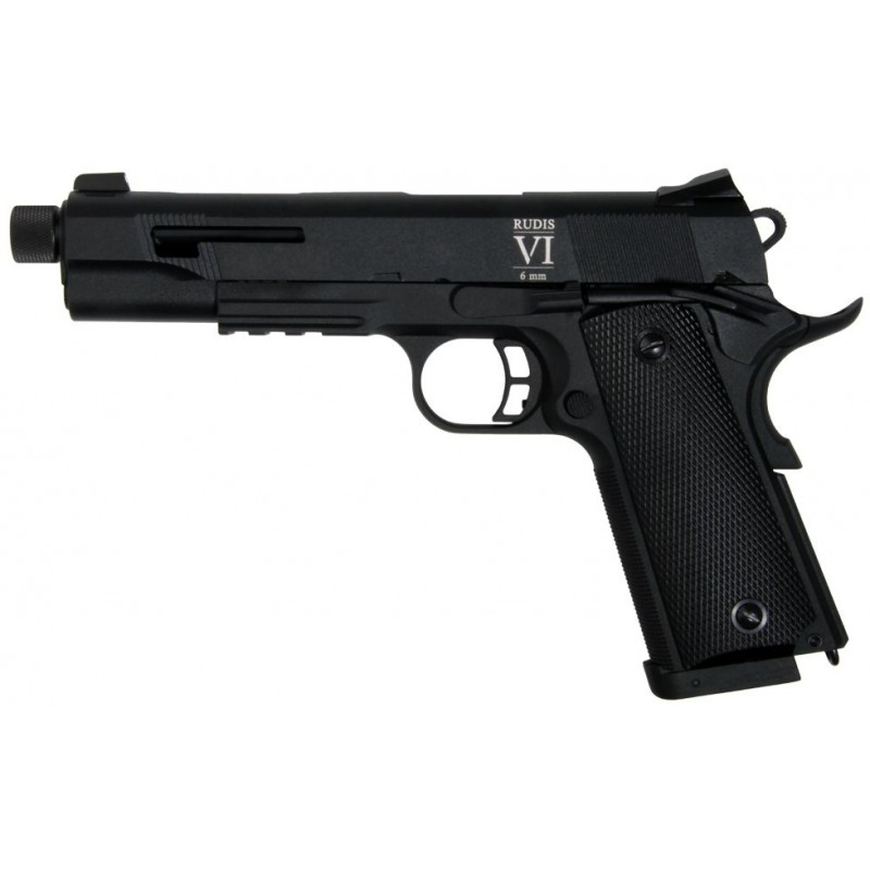 PISTOLET SECUTOR RUDIS VI NOIR CO2/GAZ BLOWBACK