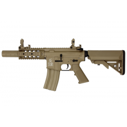 AEG COLT M4 COMPACT FORCES FULL METAL TAN 1,2J