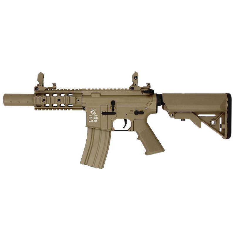 AEG COLT M4 COMPACT FORCES FULL METAL TAN 1,2J