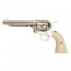 PISTOLET COLT SIMPLE ACTION ARMY NIKELE CAL 4.5