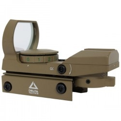 LUNETTE RED DOT DELTA TACTICS TAN 4 RETICULES