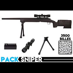 PACK SNIPER M40A3/LUNETTE/BI-PIED/BILLES