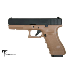 PISTOLET SAIGO GLOCK 17 CO2 TAN