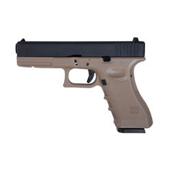 PISTOLET SAIGO 17 GAS BLOW BACK METAL SLIDE TAN