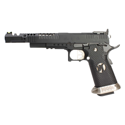 PISTOLET GBB AW CUSTOM HX2402 IPSC SPLIT BLACK 38 SUPERCOMP