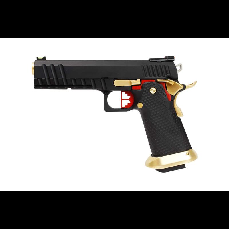 PISTOLET GBB AW CUSTOM HX2032 BLACK GOLD