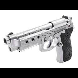 PISTOLET WE M92 HEX CUT SILVER GBB