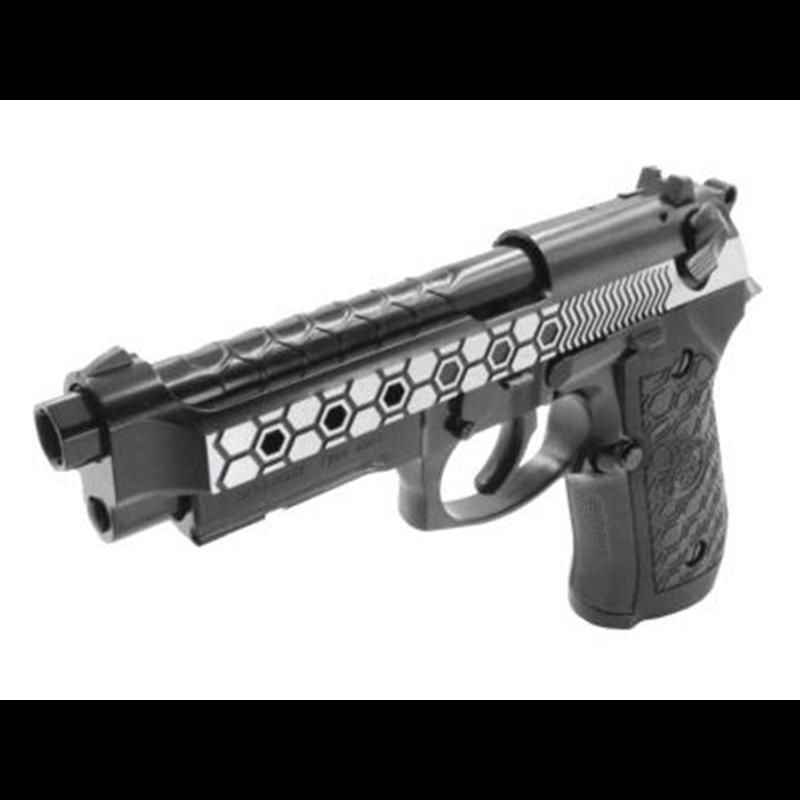 PISTOLET WE M92 HEX CUT DUAL TONE GBB