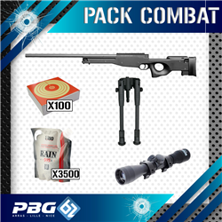 PACK COMBAT SNIPER AW308+LUNETTE+BIPIED+HOUSSE
