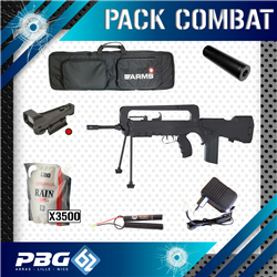 PACK COMBAT F2000 TAN+RED DOT+SILENCIEUX+HOUSSE
