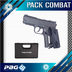 PACK COMBAT PISTOLET 1911 CO2 FULL METAL + MALETTE
