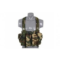 GILET CHEST RIG WOODLAND