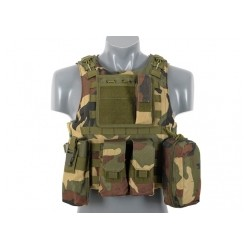 GILET PLATE CARRIER WOODLAND
